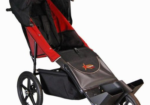 Adaptive Star Adaptive Star Axiom Endeavour 3 Indoor and Outdoor Mobility Push Chair In Red