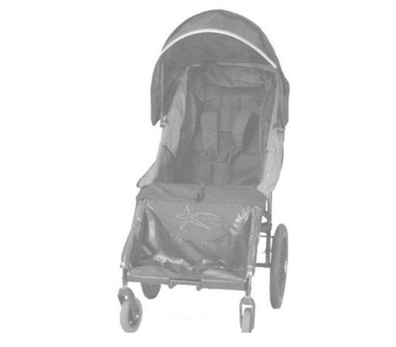 Adaptive Star Axiom Lassen 2 Indoor and Outdoor Mobility Push Chair In Navy