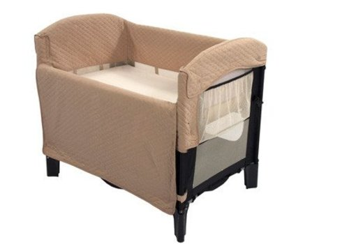 Arms Reach Arm's Reach Ideal Co-Sleeper Bedside Bassinet In Black And Tofee