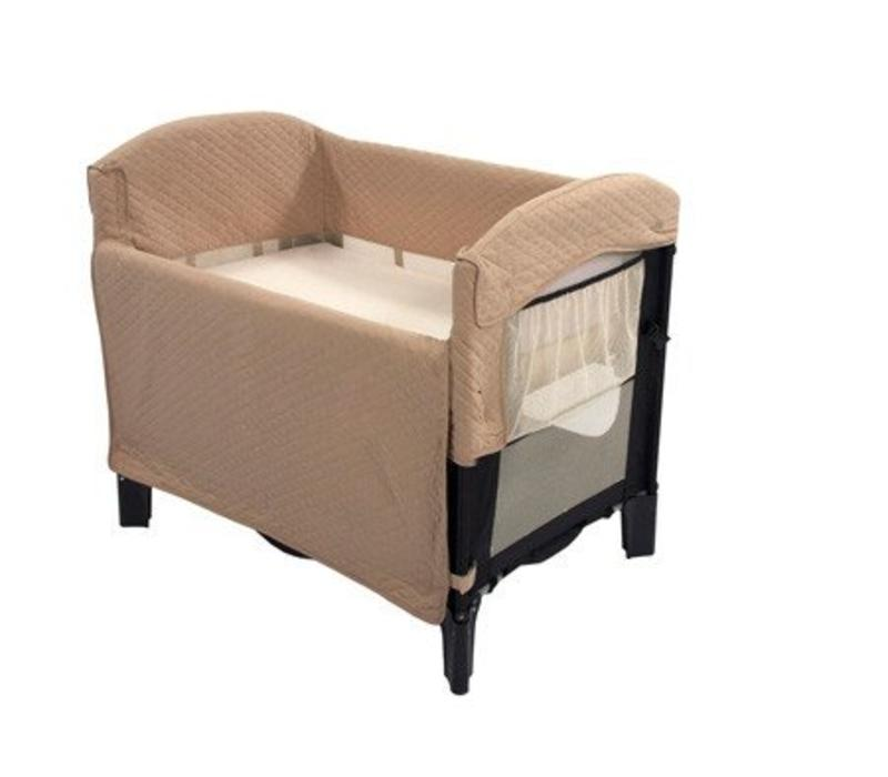 Arm's Reach Ideal Co-Sleeper Bedside Bassinet In Black And Tofee