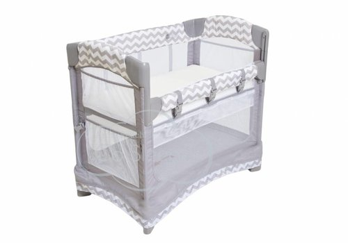 Arms Reach Arm's Reach Mini Arc Co-Sleeper In Chevron