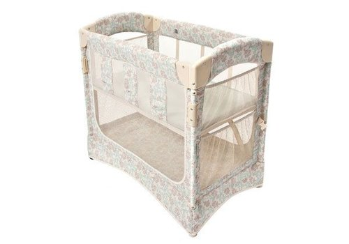 Arms Reach Arm's Reach Mini Arc Co-Sleeper In Damask With Skirt