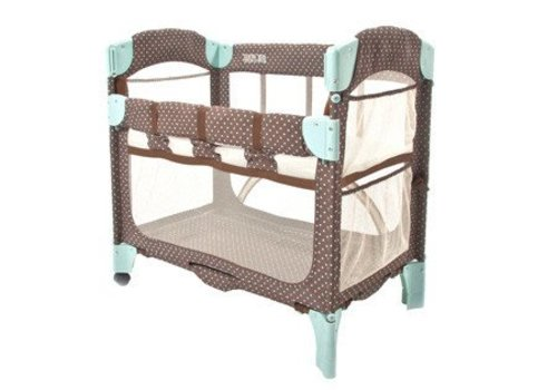 Arms Reach Arm's Reach Mini Arc Co-Sleeper In Java Dot
