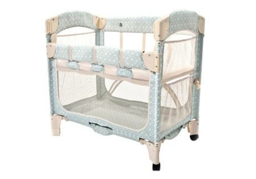 Arms Reach Arm's Reach Mini Arc Co-Sleeper In Turquoise Geo