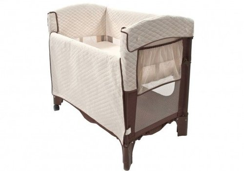 Arms Reach Arm's Reach Mini Arc Convertible Co-Sleeper In Cocoa and Natural