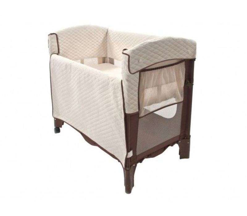 Arm's Reach Mini Arc Convertible Co-Sleeper In Cocoa and Natural