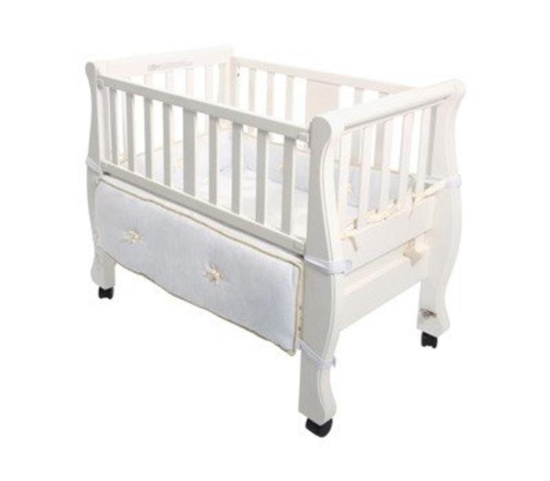 Arm's Reach Sleigh Co-Sleeper In White