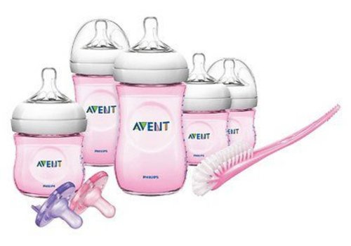 Avent Philips Avent SCD29611 BPA Free Natural Infant Starter Set Pink