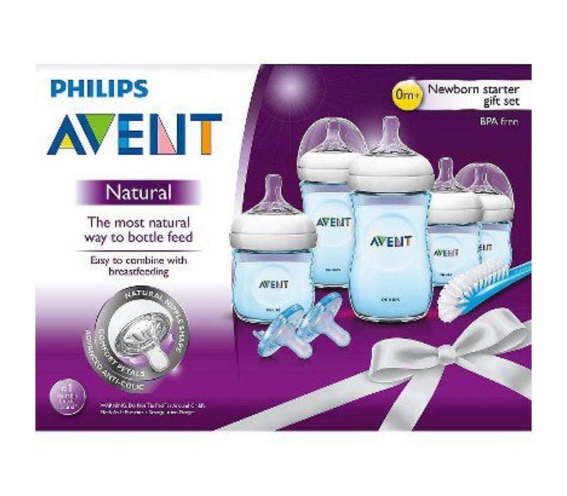 Philips Avent SCD29611 BPA Free Natural Infant Starter Set Blue