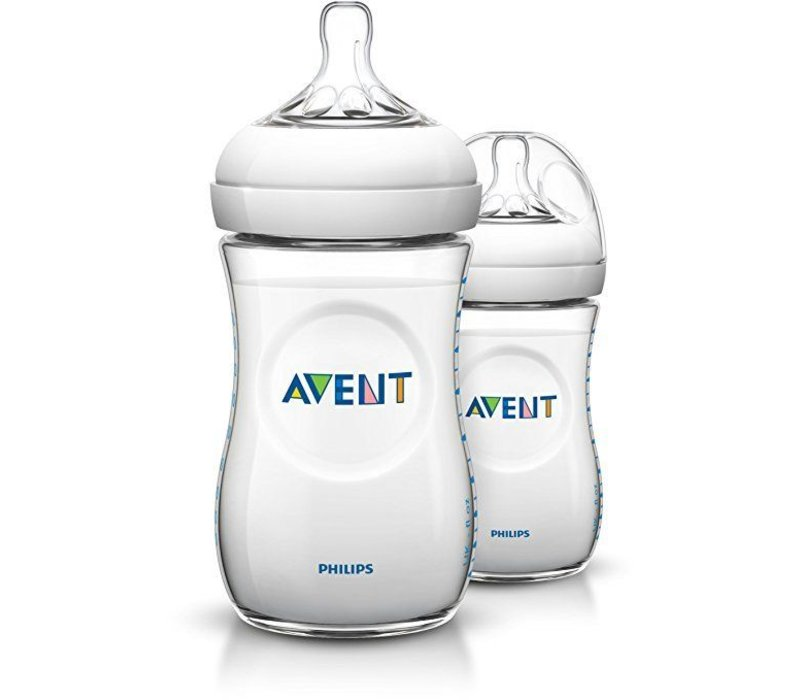 Philips Avent Natural 9 Ounce BPA Free Bottle, 3 Pack In Clear