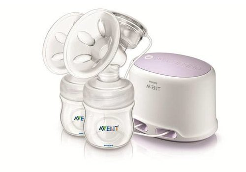 Avent Philips Avent Comfort Double Electric Breast Pump Set - SCF334/12 - White/Purple