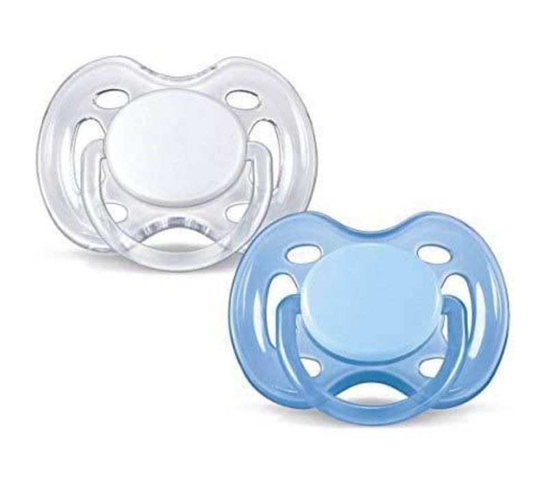 Philips Avent Freeflow Pacifier 0-6 Month  In Blue-White  2-pack