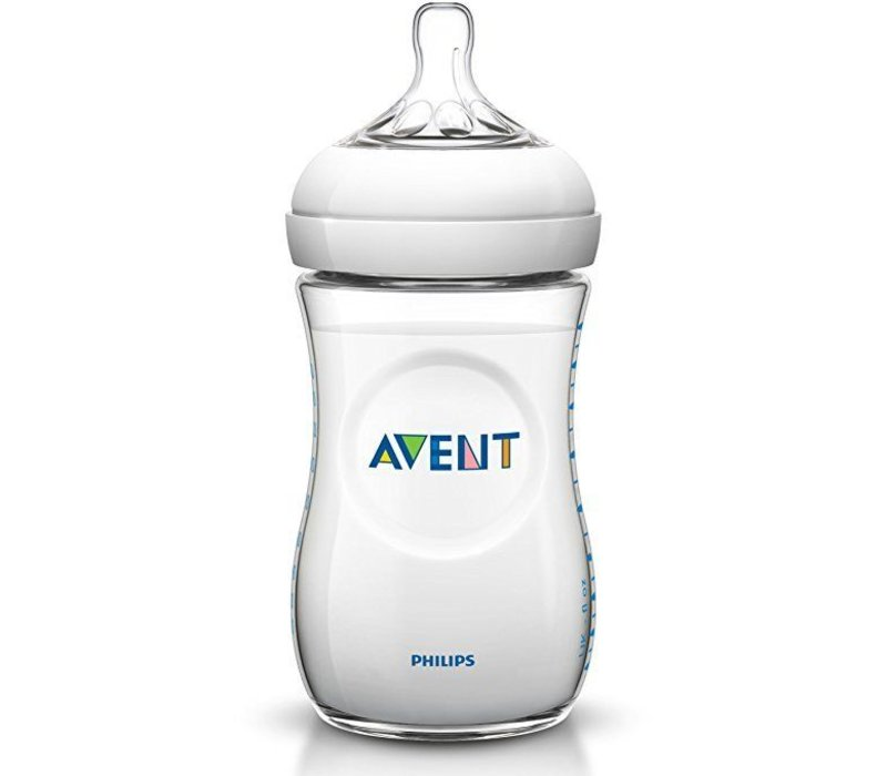 Philips Avent Natural 11 Ounce BPA Free Bottle, 3 Pack In Clear