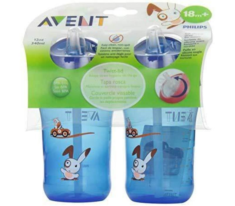 Avent Twist N Sip 12 Ounce 2 Pack