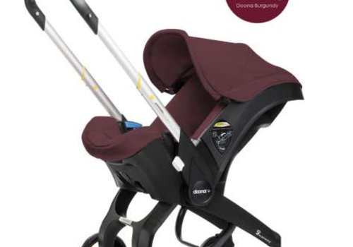 Doona Doona Infant Car Seat - Stroller With Infant Car Seat Base Burgundy-Cherry