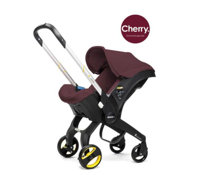 Doona Infant Car Seat - Stroller With Infant Car Seat Base Burgundy-Cherry