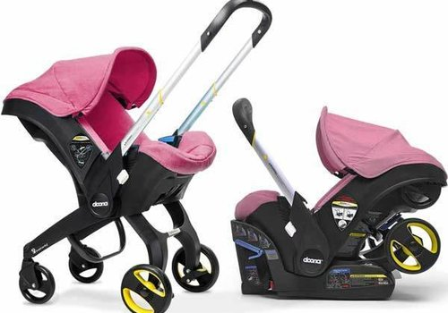 Doona Doona Infant Car Seat - Stroller With Infant Car Seat Base Pink-Sweet