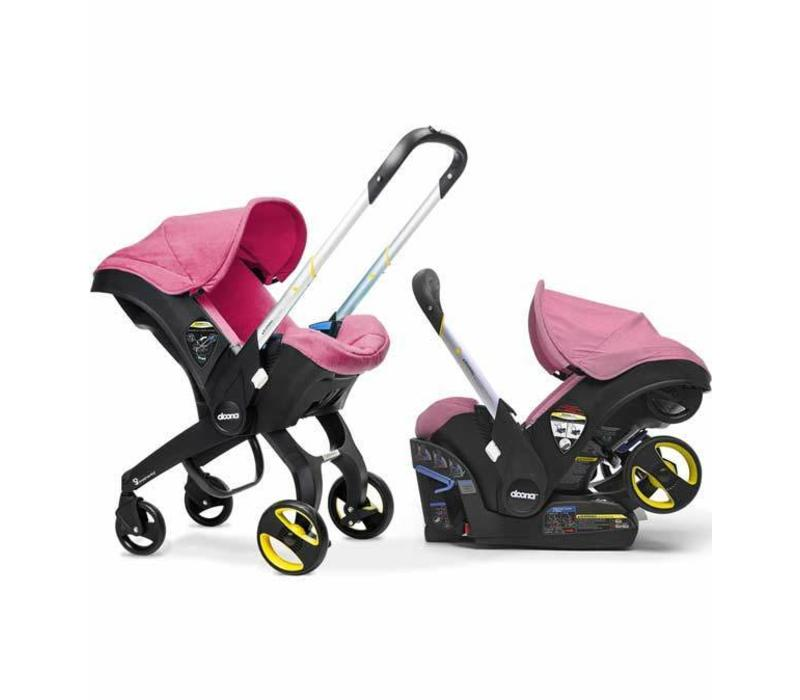 Doona Infant Car Seat - Stroller With Infant Car Seat Base Pink-Sweet
