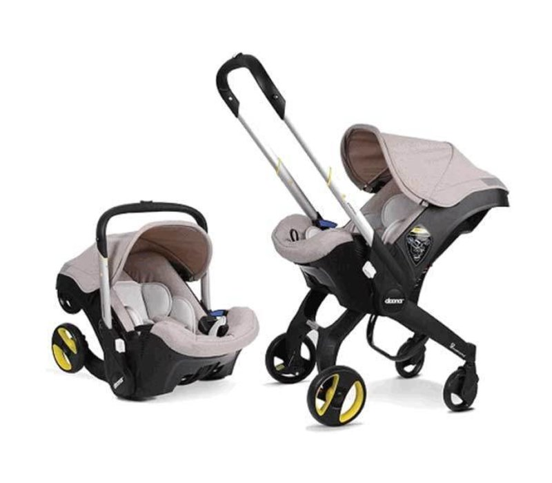 CLOSEOUT!! Doona Infant Car Seat - Stroller With Infant Car Seat Base Beige-Dune