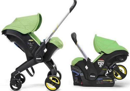 Doona Doona Infant Car Seat - Stroller With Infant Car Seat Base Green-Fresh