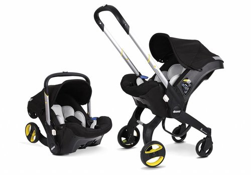 Doona Doona Infant Car Seat - Stroller With Infant Car Seat Base Black-Night