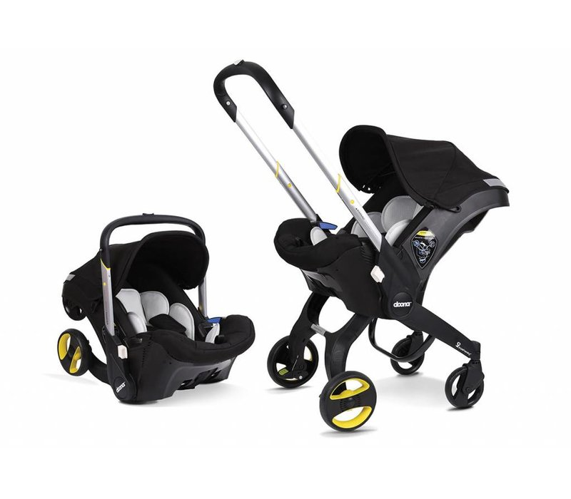 Doona Infant Car Seat - Stroller With Infant Car Seat Base Black-Night