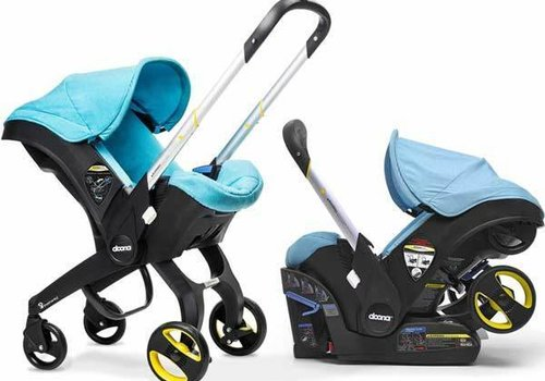 Doona Doona Infant Car Seat - Stroller With Infant Car Seat Base Turquoise- Sky