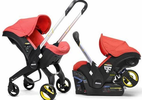 Doona Doona Infant Car Seat - Stroller With Infant Car Seat Base Red-Love