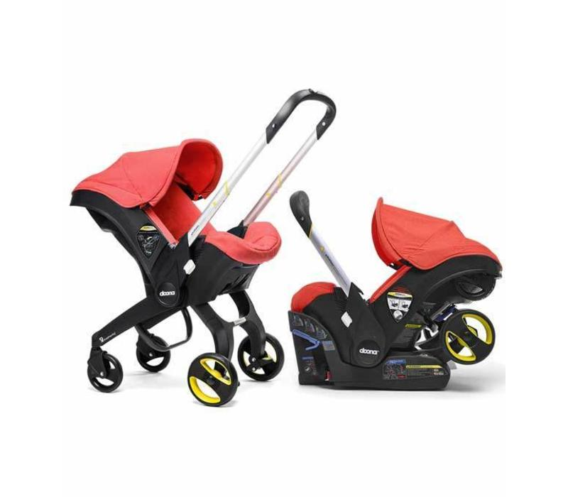 Doona Infant Car Seat - Stroller With Infant Car Seat Base Red-Love