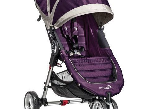 Baby Jogger 2017 Baby Jogger City Mini 3 Wheel Single In Purple - Gray