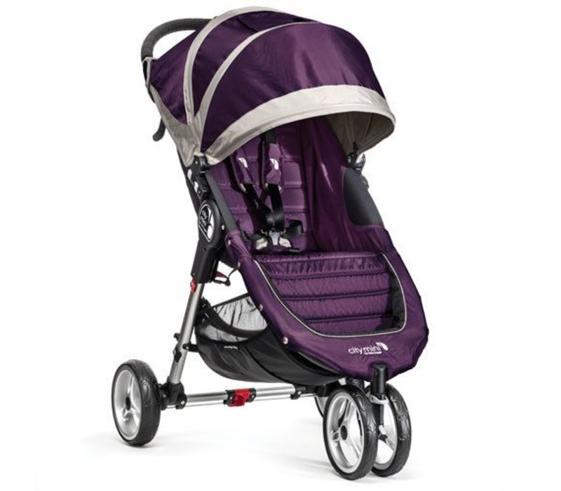 2017 Baby Jogger City Mini 3 Wheel Single In Purple - Gray