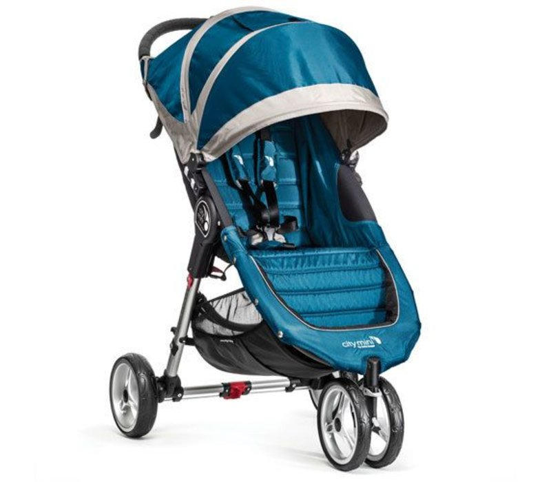 2017 Baby Jogger City Mini 3 Wheel Single In Teal - Gray