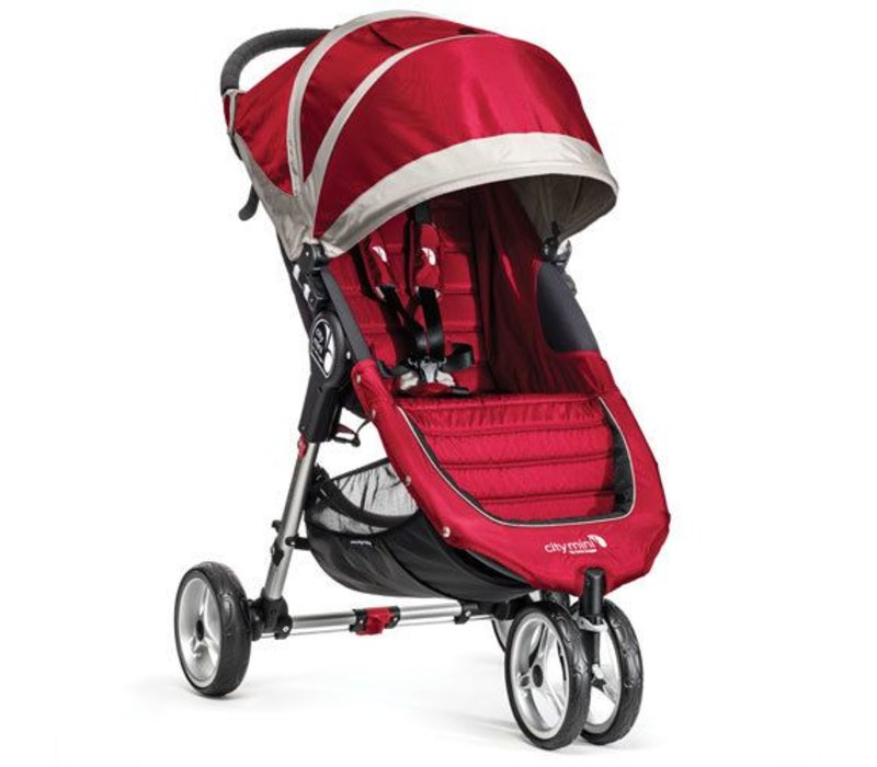 2017 Baby Jogger City Mini 3 Wheel Single In Crimson - Gray