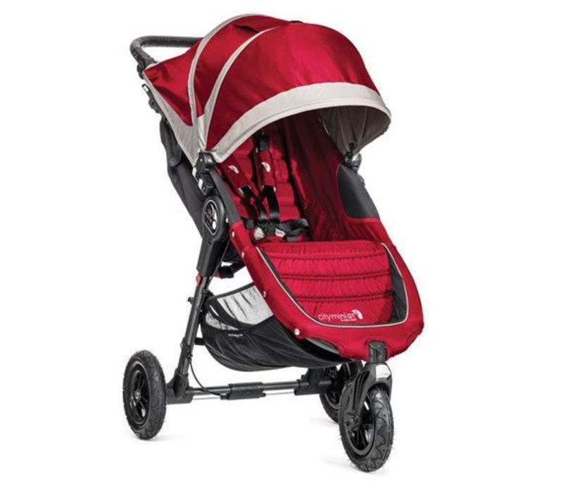 2017 Baby Jogger City Mini GT Single In Crimson - Gray