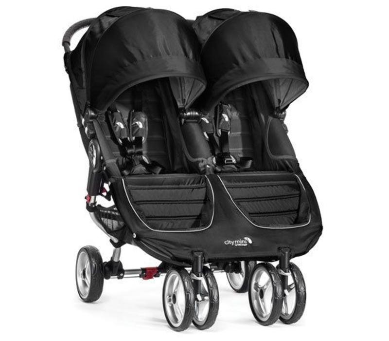 2017 Baby Jogger City Mini Double In Black - Gray