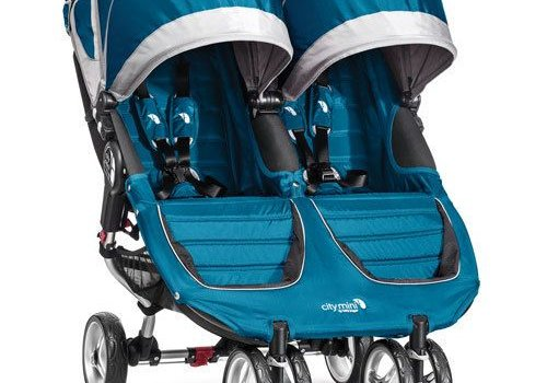 Baby Jogger 2017 Baby Jogger City Mini Double In Teal - Gray