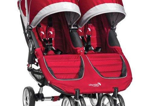 Baby Jogger 2017 Baby Jogger City Mini Double In Crimson- Gray