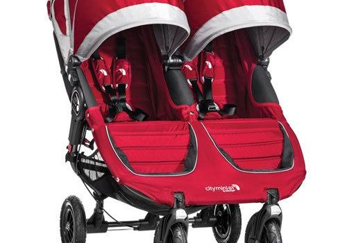 Baby Jogger 2017 Baby Jogger City Mini GT Double In Crimson - Gray
