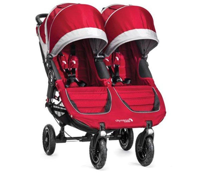 2017 Baby Jogger City Mini GT Double In Crimson - Gray