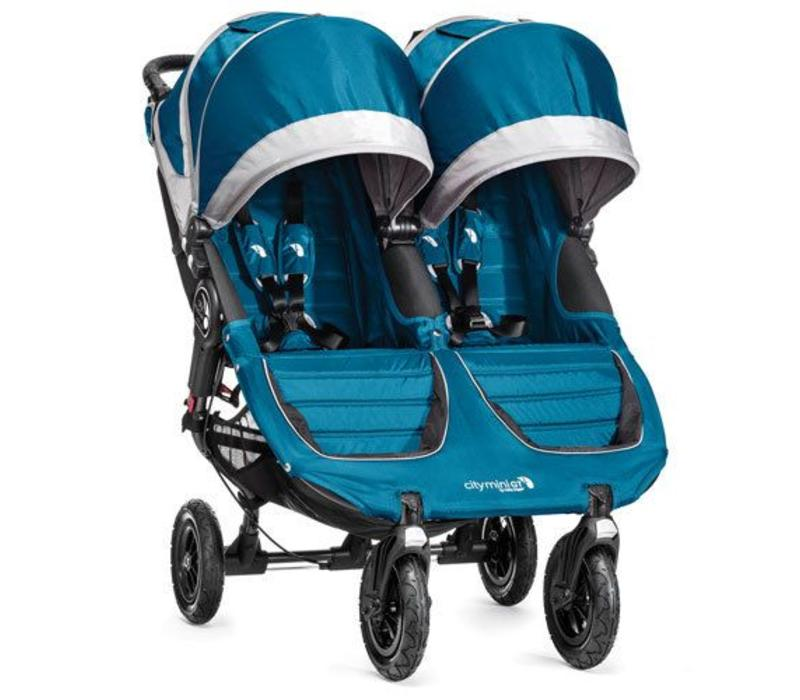 2017 Baby Jogger City Mini GT Double In Teal - Gray