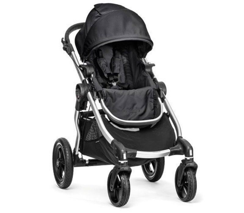 2017 Baby Jogger City Select Single In Onyx With Silver Frame