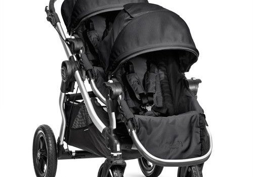 Baby Jogger 2017 Baby Jogger City Select With Second Seat In Onyx With Silver Frame
