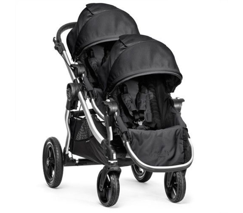 2017 Baby Jogger City Select With Second Seat In Onyx With Silver Frame
