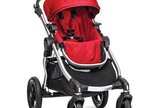 Baby Jogger 2017 Baby Jogger City Select Single In Ruby With Silver Frame