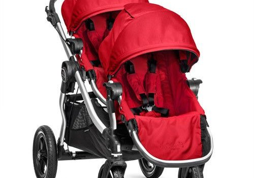 Baby Jogger 2017 Baby Jogger City Select With Second Seat In Ruby With Silver Frame
