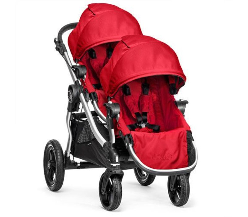 2017 Baby Jogger City Select With Second Seat In Ruby With Silver Frame