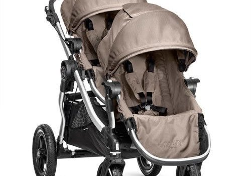 Baby Jogger 2017 Baby Jogger City Select With Second Seat In Quartz With Silver Frame