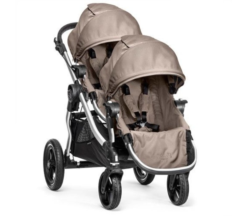 2017 Baby Jogger City Select With Second Seat In Quartz With Silver Frame
