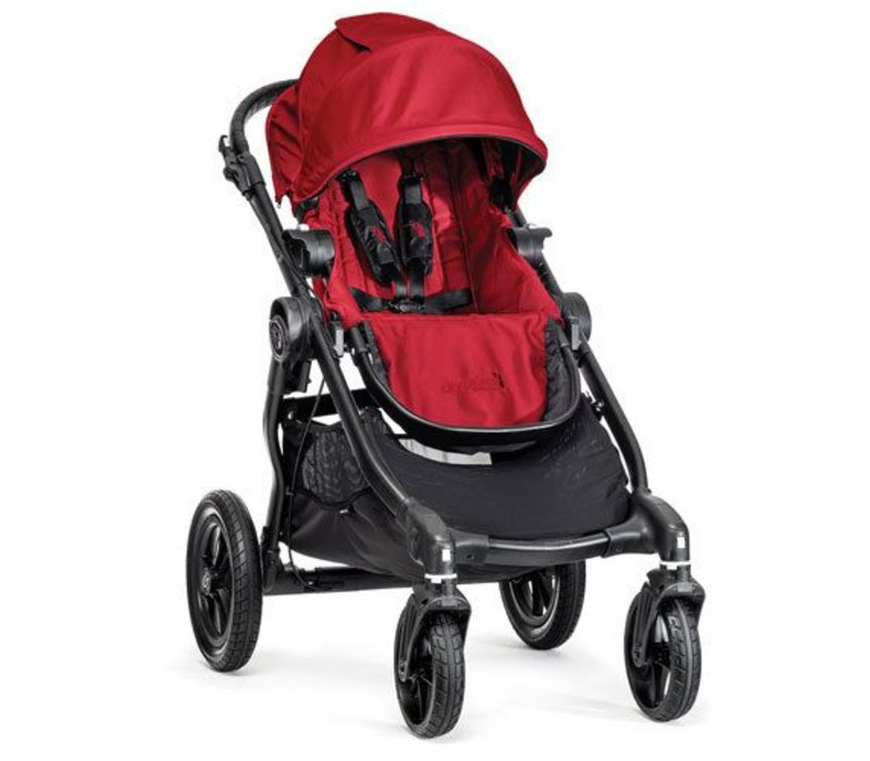 2017 Baby Jogger City Select Single In Red With Black Frame