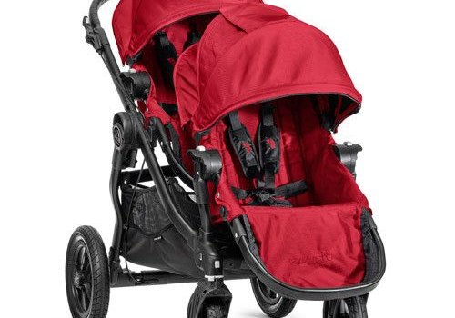 Baby Jogger 2017 Baby Jogger City Select With Second Seat In Red With Black Frame